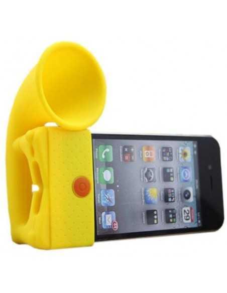 Ampli sonore iPhone silicone jaune