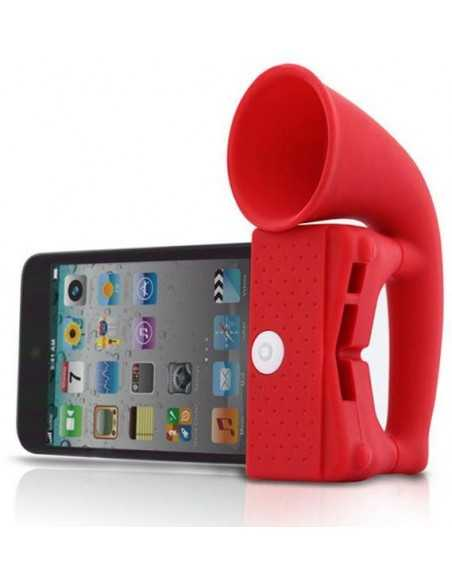 Ampli sonore iPhone silicone Rouge