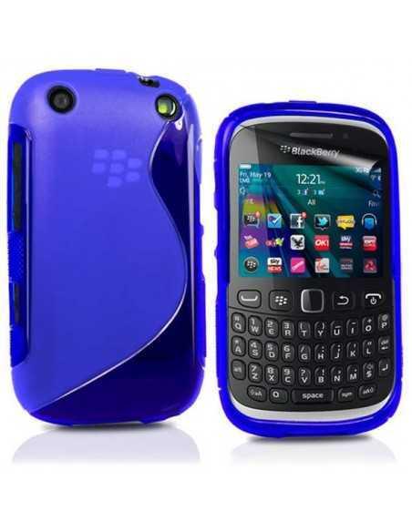 Coque Blackberry 9320 et 9220 S-Line Bleu