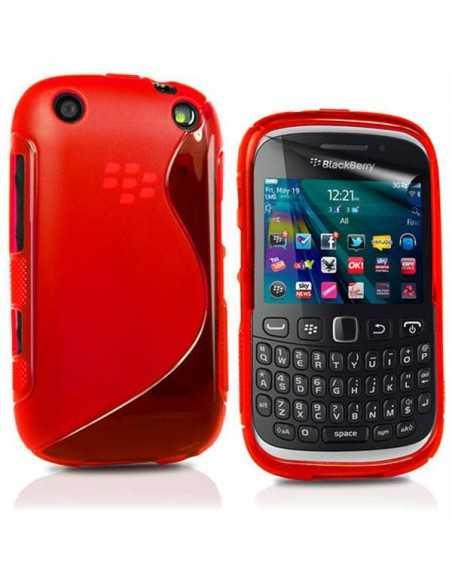 Coque Blackberry 9320 et 9220 S-Line Rouge