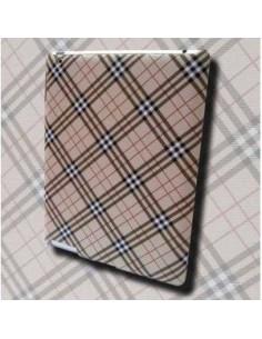 Coque iPad 2, 3 et 4 Style Ecossais Argent