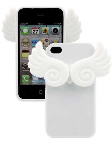 Coque iPhone 4 Ailes Phospho Blanc