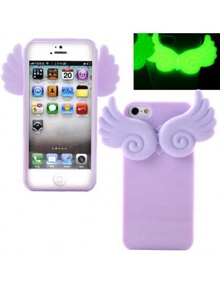 Coque iPhone 4 Ailes Phospho Mauve