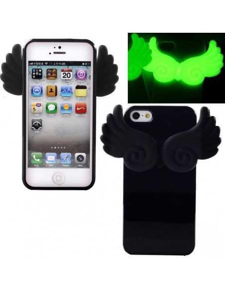 Coque iPhone 4 Ailes Phospho Noir