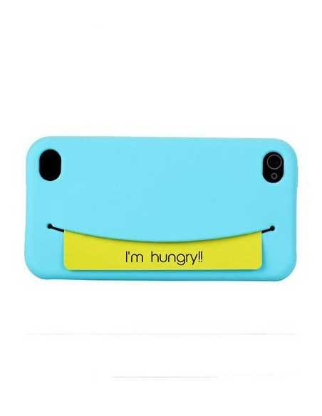 Coque iPhone 4 Feed Me Bleu