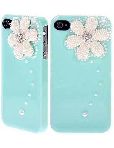 Coque Iphone 4 Fleur Luxe