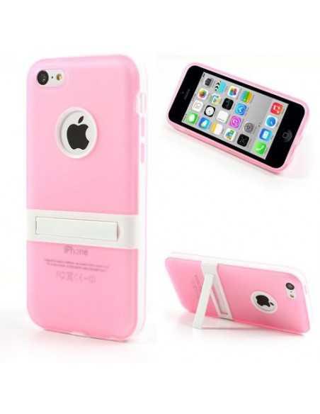 Coque iPhone 5C silicone Hybride Rose