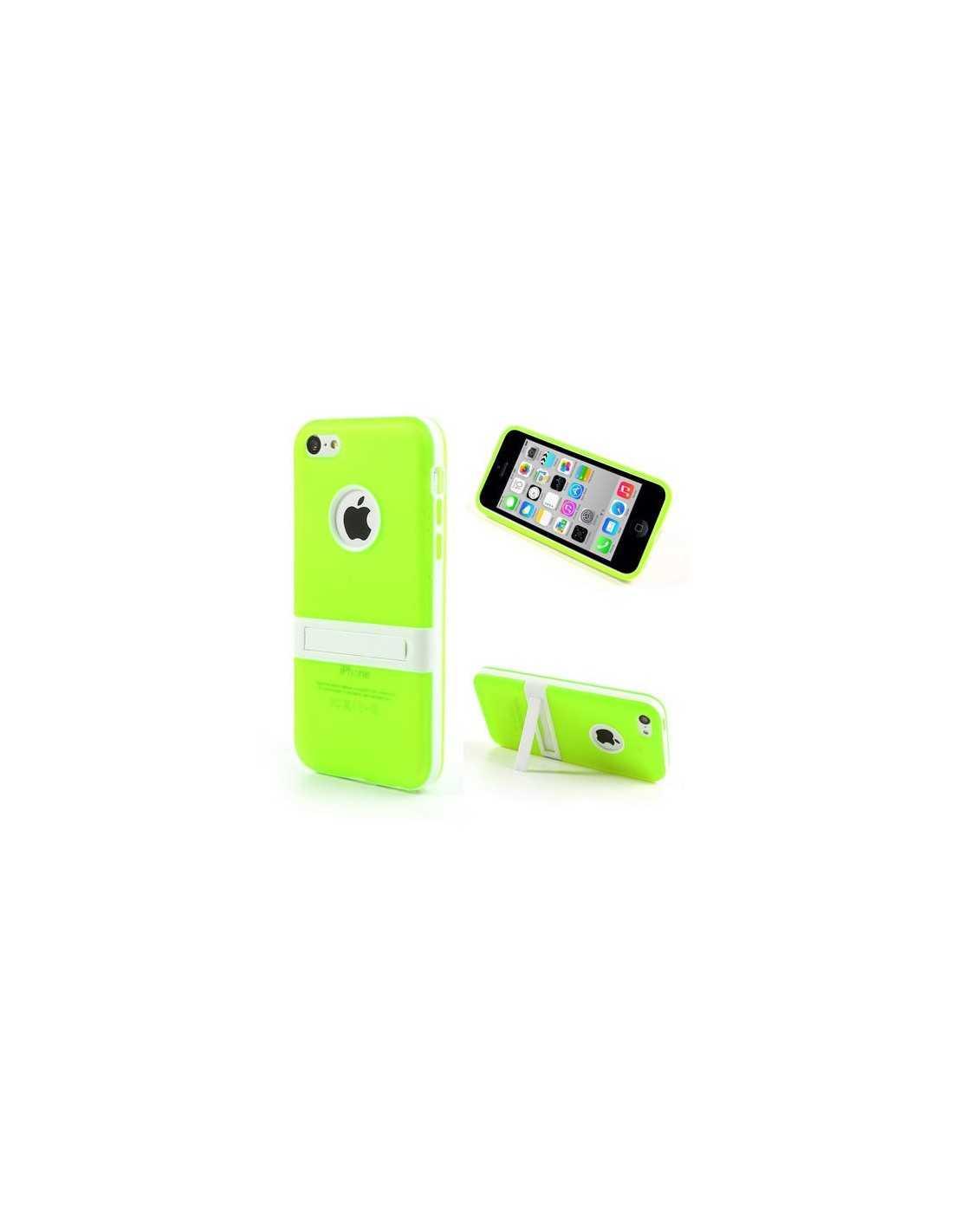 Coque Apple iPhone 5C silicone Hybride Vert