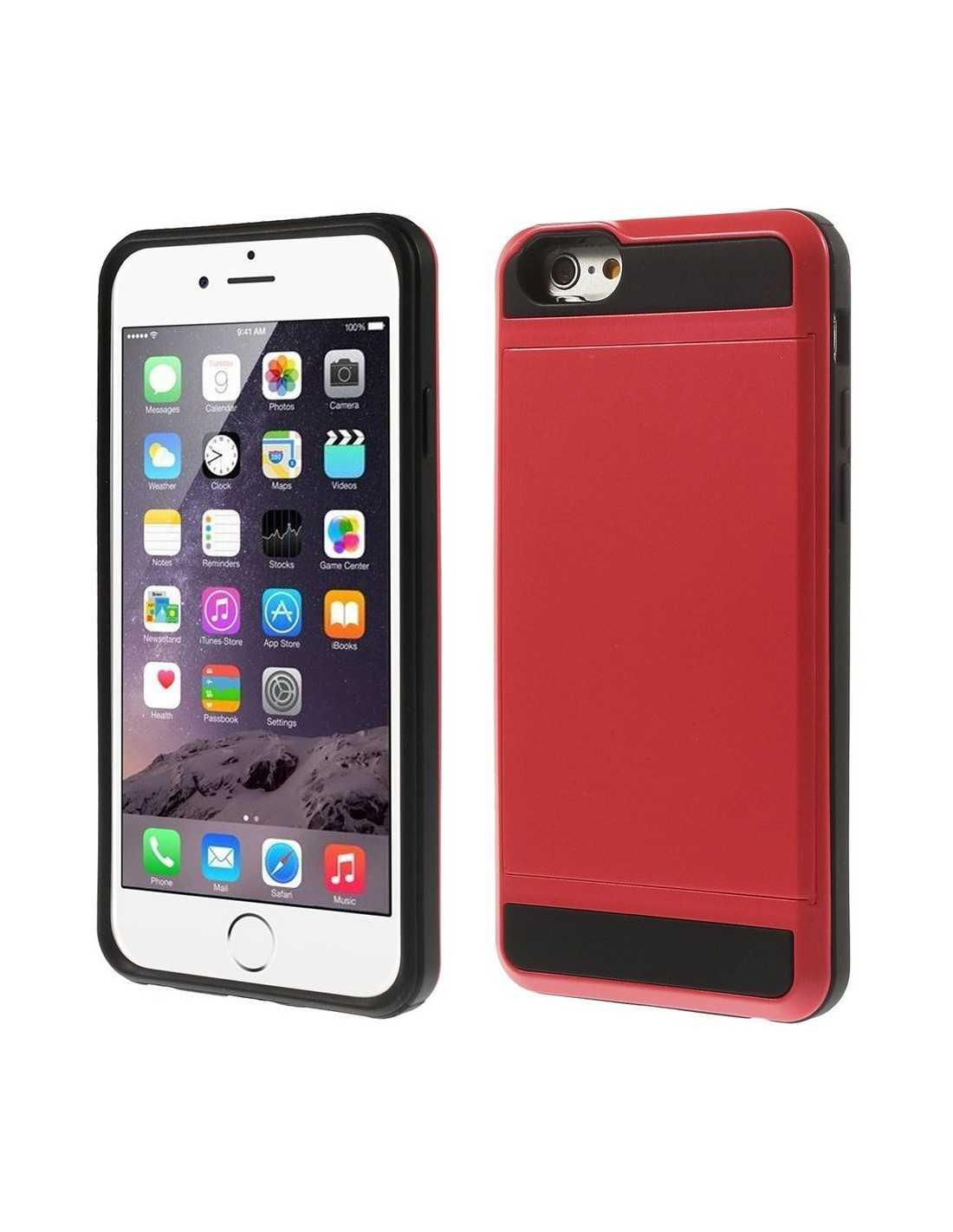 coque iphone 6 plus 6s plus rangement secret rouge