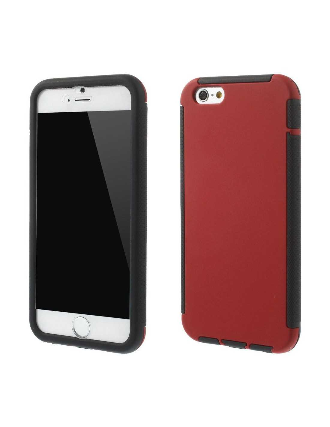 coque iphone 6 et 6s silicone full protect rouge