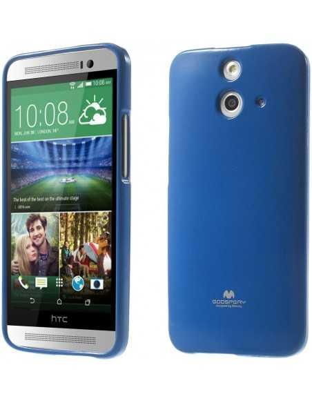 Coque HTC One E8 Silicone Mercury Bleu foncé