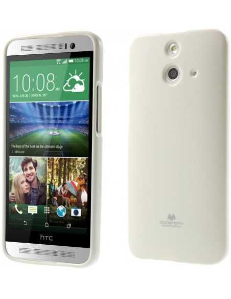 Coque HTC One E8 Silicone Mercury Blanc