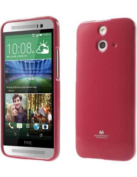 Coque HTC One E8 Silicone Mercury Fushia