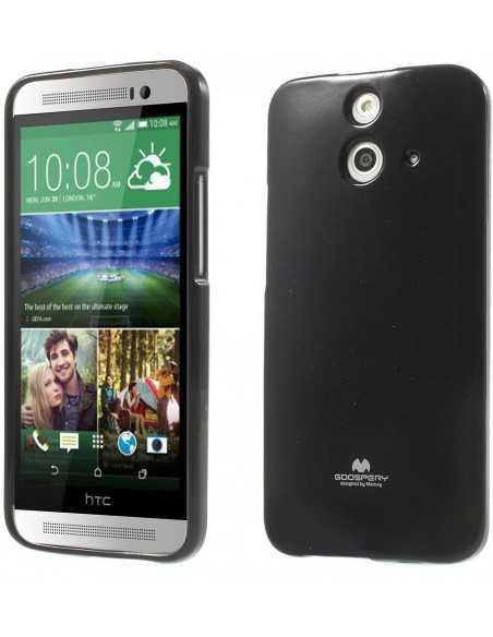 Coque HTC One E8 Silicone Mercury Noir
