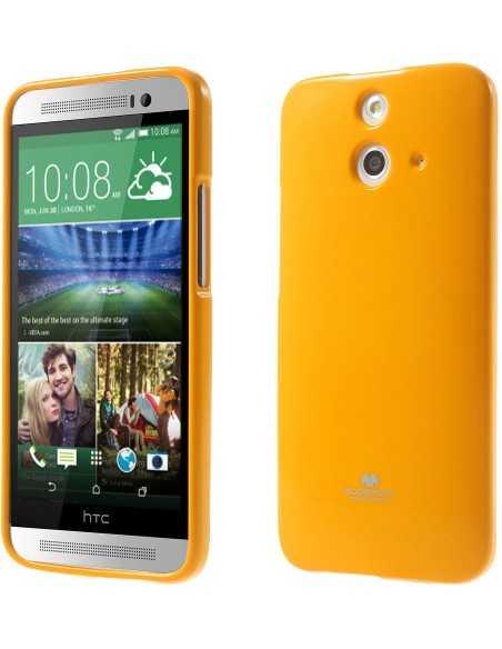Coque HTC One E8 Silicone Mercury Orange