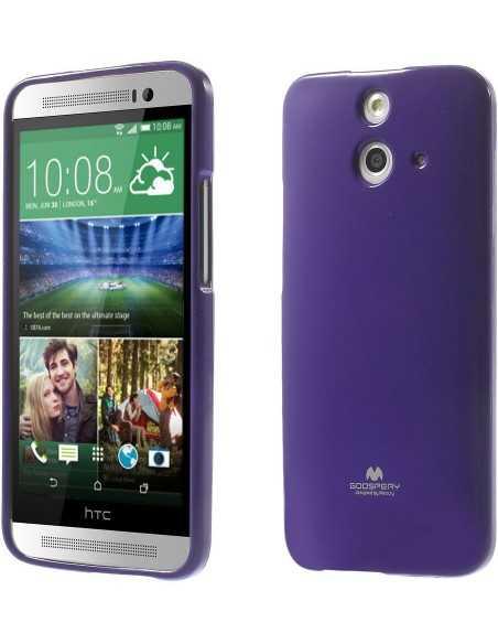 Coque HTC One E8 Silicone Mercury Violet