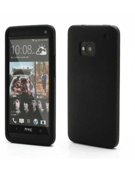 Coque HTC One M7 Silicone Matte Noir