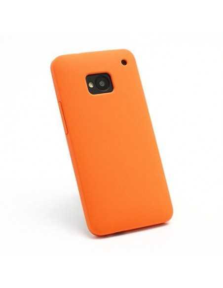 Coque HTC One M7 Silicone Matte Orange