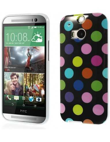 Coque HTC One M8 Silicone Polka