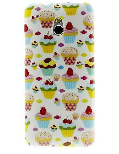 Coque HTC One Mini M4 Silicone Lovely cake