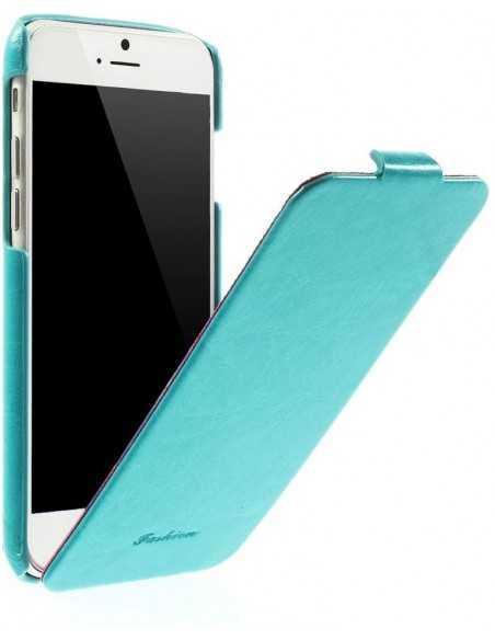 Etui iPhone 6 Vertical simili cuir Bleu