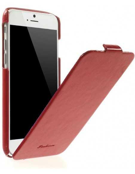 Etui iPhone 6 Vertical simili cuir Rouge