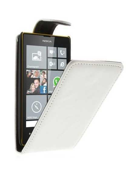 Etui Lumia 520 et lumia 525 simili cuir Blanc