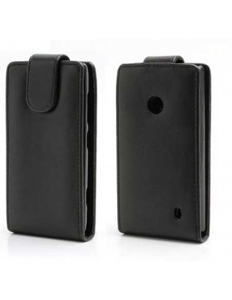 Etui Lumia 520 et lumia 525 simili cuir Noir