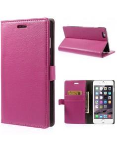 Etui Iphone 6 Plus portefeuille - simili cuir