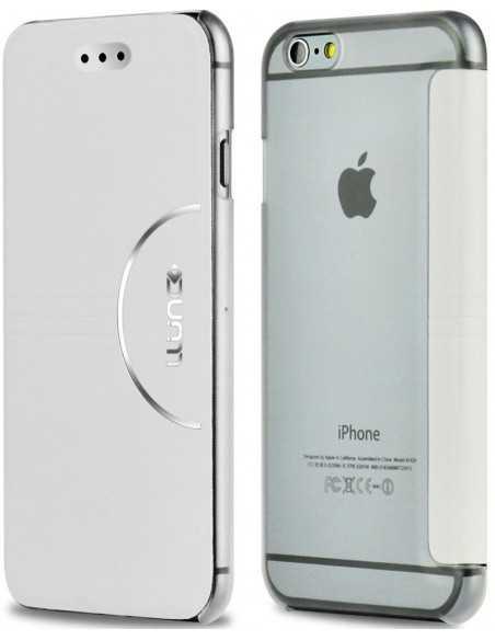 Etui iPhone 6 et 6s simili cuir Ultra-Slim Blanc