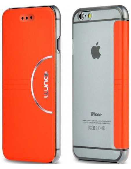 Etui iPhone 6 et 6s simili cuir Ultra-Slim Orange