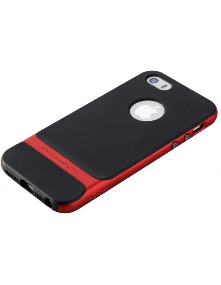 Coque iPhone 5 5S Silicone Hybride Rouge