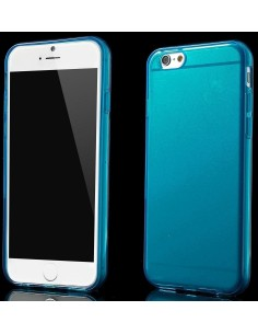 Coque Plus Silicone Glossy Surface Bleu