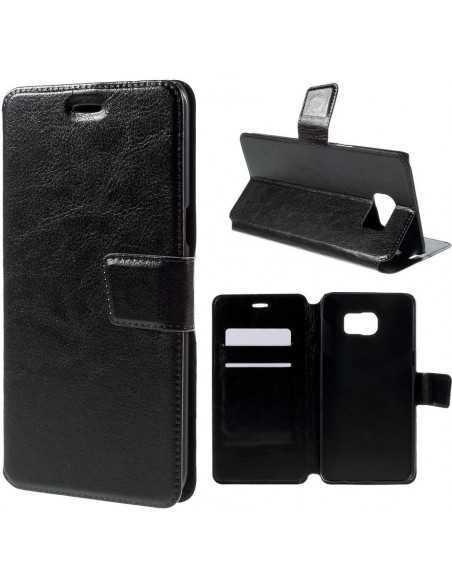 Etui Galaxy S6 Edge Plus Portefuille Simili-Cuir Noir