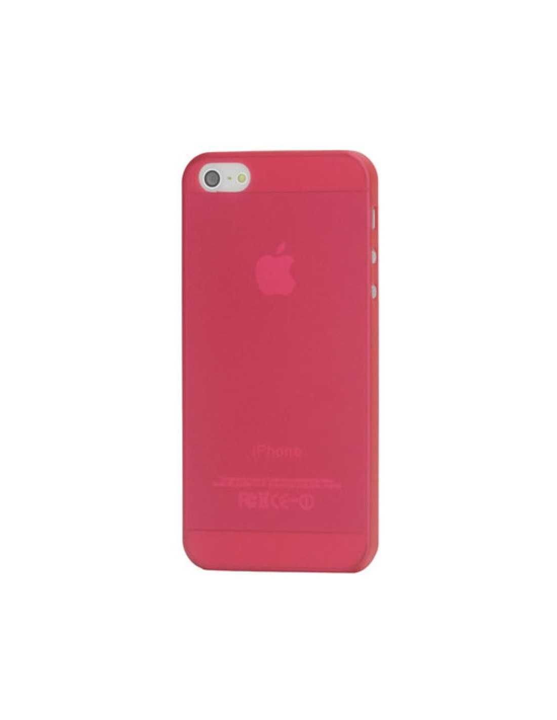 Coque Apple iPhone 5 5s ultrafine en silicone Rouge