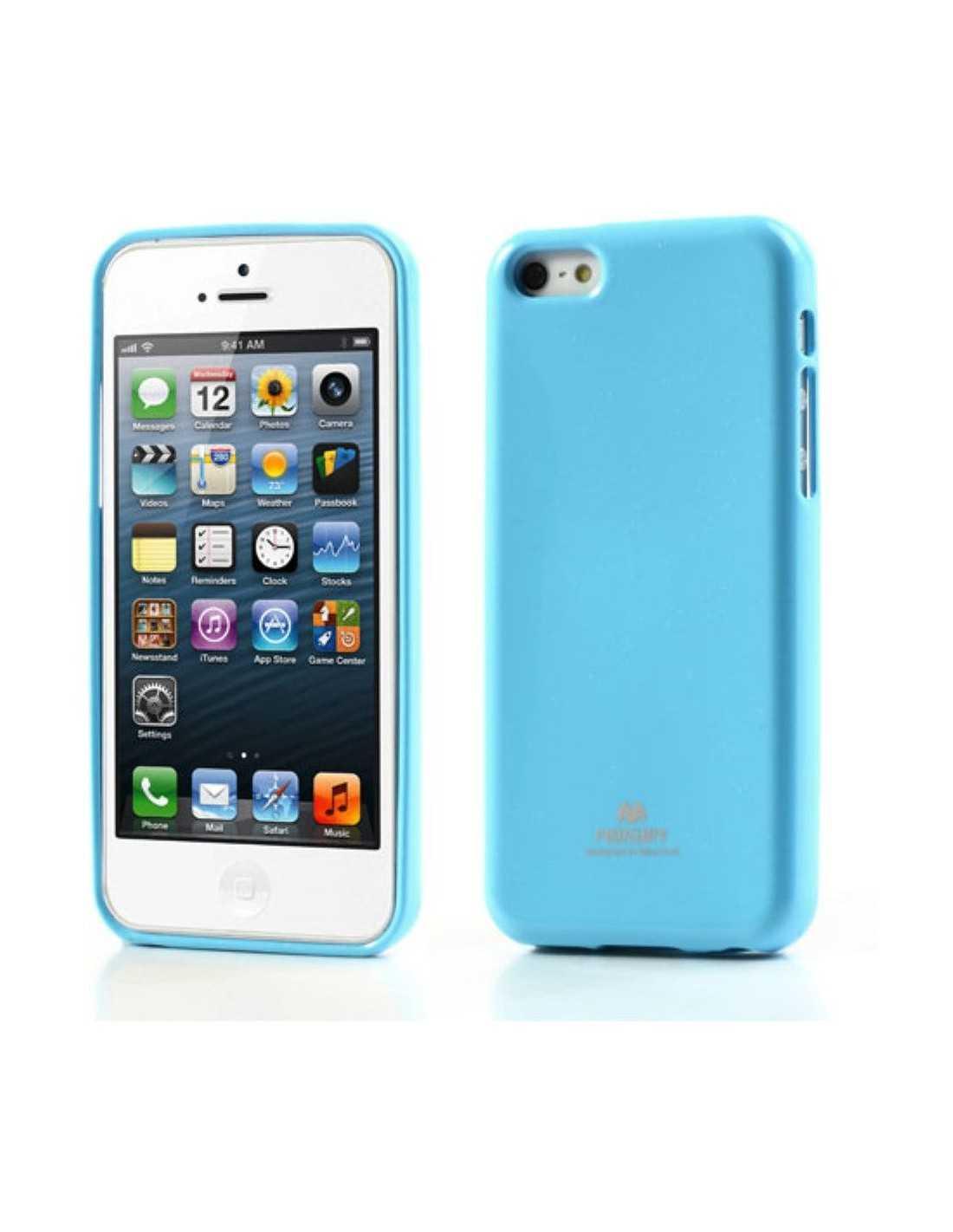 coque silicone iphone 5c gel mercury bleu