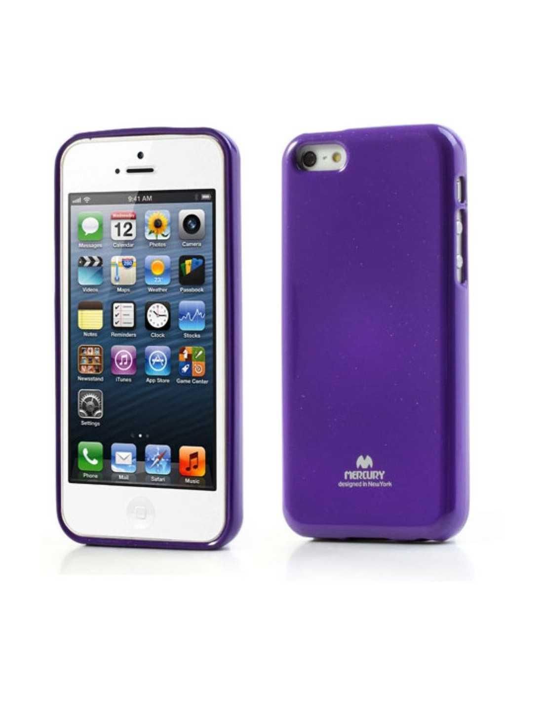 Coque Apple iPhone 5C Gel Mercury en silicone Violet