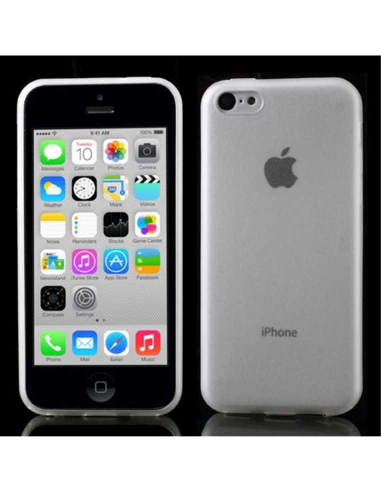 Coque iPhone 5C Ultrafine , silicone et Matte avec plug anti-poussière Transparent