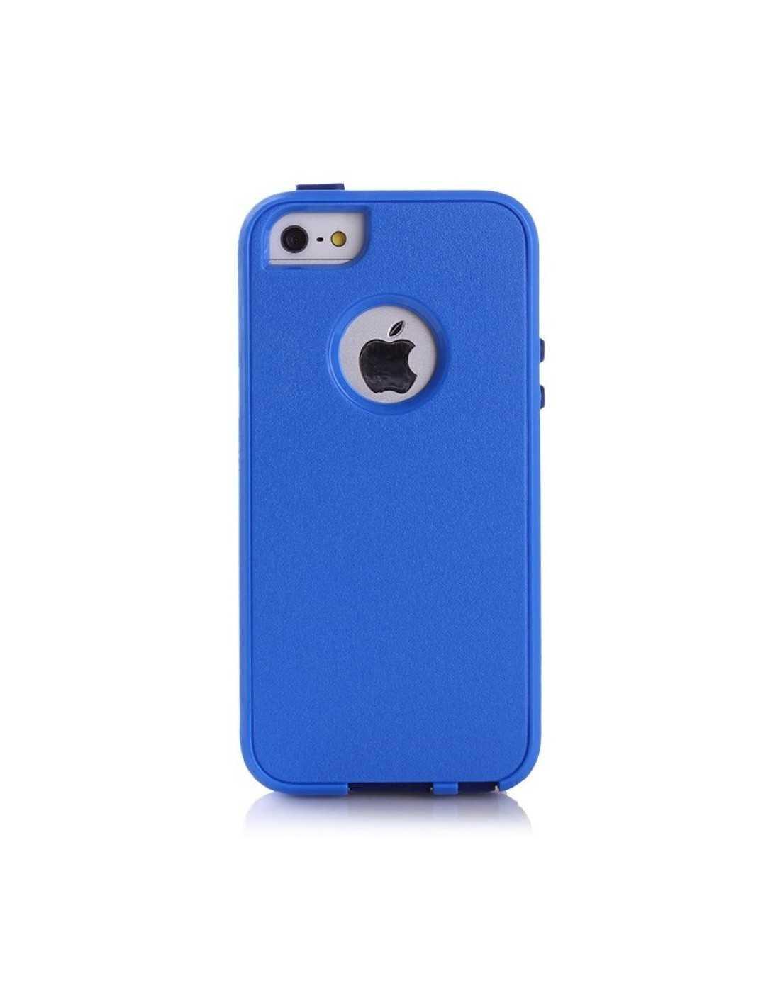 Coque Apple iPhone 5S et 5 Silicone Hybrid résistante Bleu foncé
