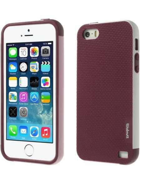 Coque Apple iPhone 5S et 5 Fantaisie Silicone Multicolor Rouge