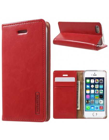 Etui iPhone 5S SE S Mercury Portefeuille Rouge