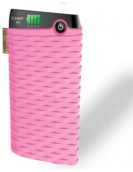 Chargeur externe 10000 mAh USB 3 CAGER S20 Rose