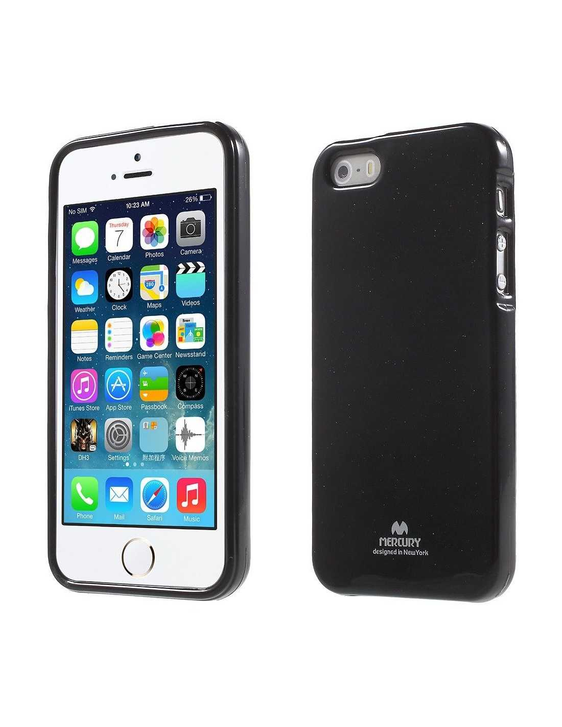 Coque Apple iPhone SE 5s 5 en silicone de Gel Mercury