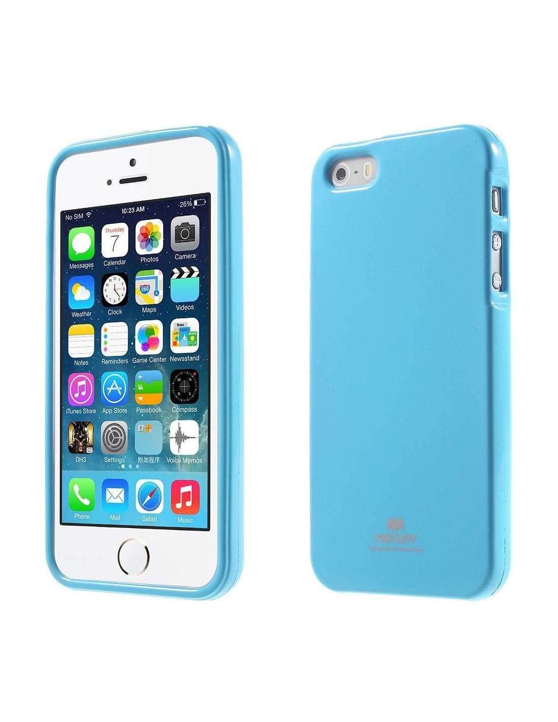coque silicone iphone se 5s 5 gel mercury bleu ciel
