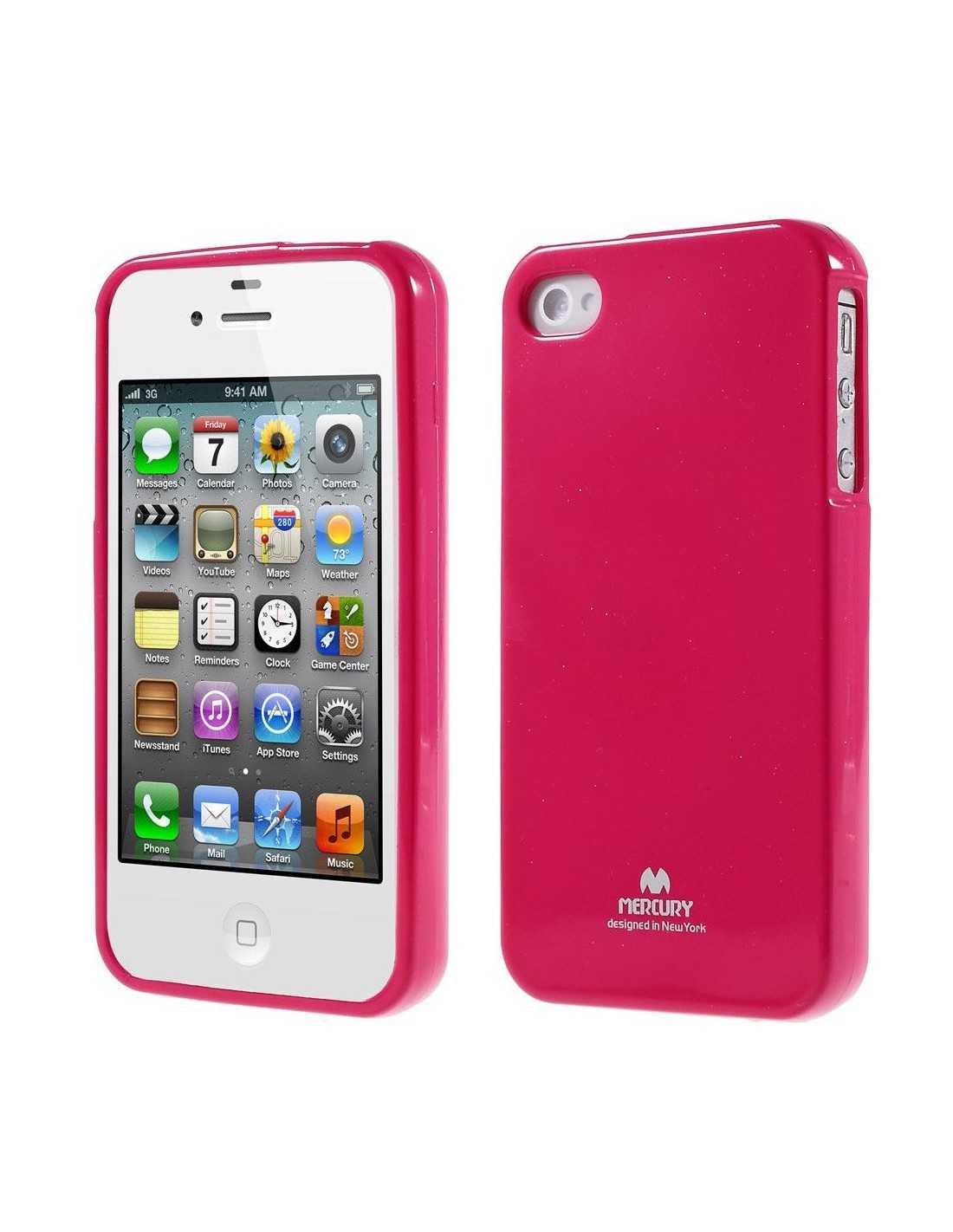coque silicone iphone 4 4s gel mercury fushia