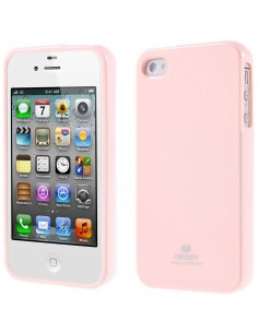 coque silicone iphone 4 4s gel mercury rose