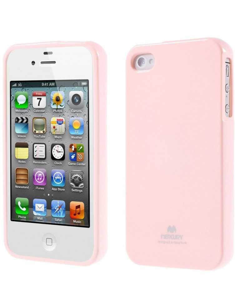 Coque iPhone 4 et iPhone 4S Gel Mercury - silicone Rose