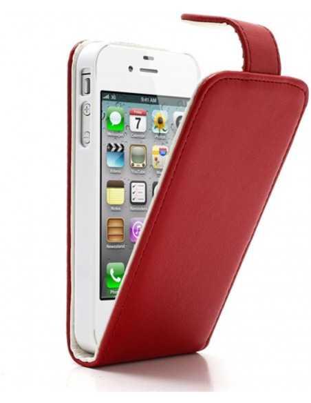 Etui iPhone 4 et 4S Vertical Magnetic Rouge