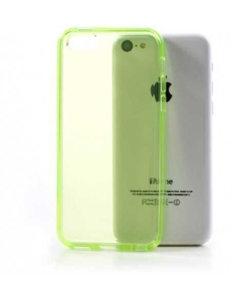 Coque iPhone 5C - silicone Vert