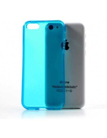 Coque iPhone 5C - silicone Bleu